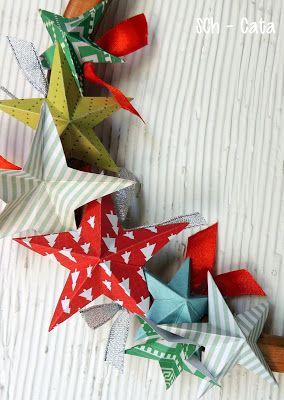 tutorial guirnalda con estrellas de papel