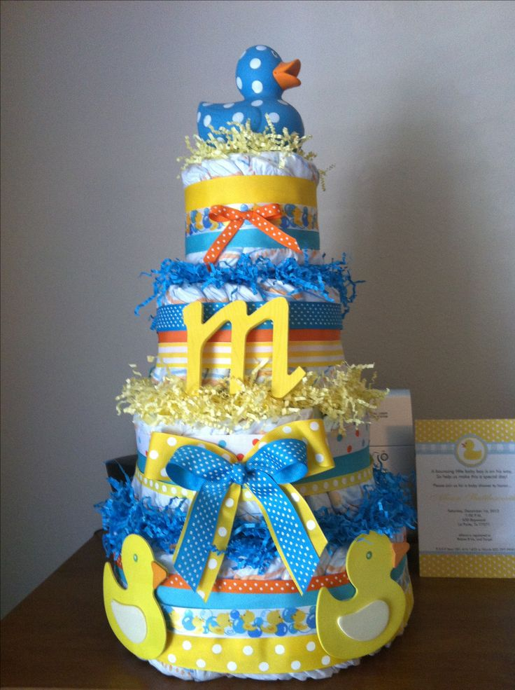 Rubber Ducky Theme Baby Shower Diaper Cake!