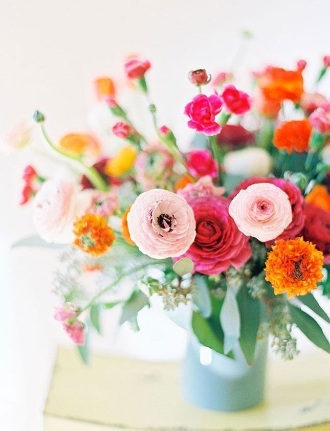 There S A Lot To Love About Ranunculus Because It Comes In Just About Every Color Under The Sun Ranunculus Flowers Pretty Flowers Flower Arrangements