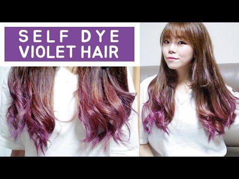 머리부터 난 바이올렛 / 5000원으로 셀프 퍼플 염색 / SELF HAIR