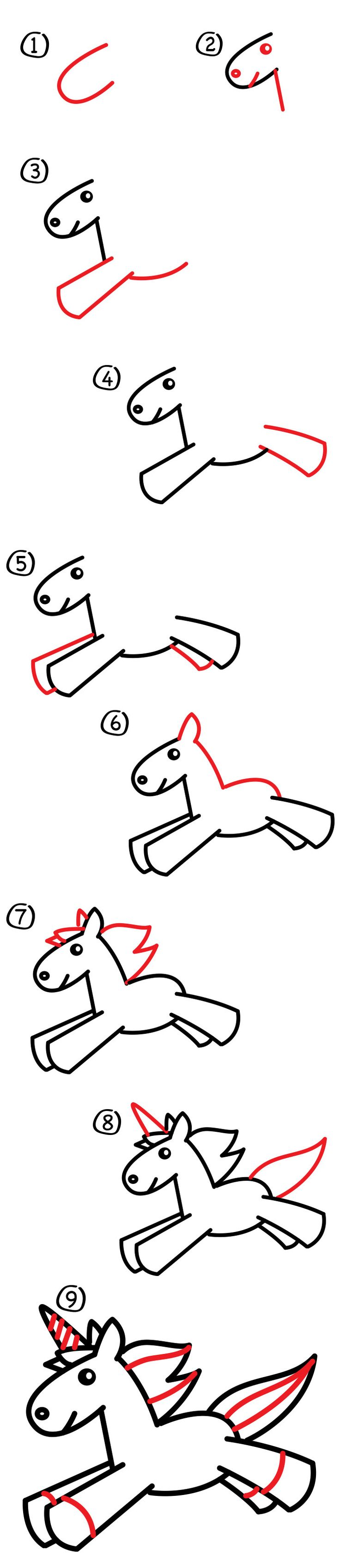 how to draw a unicorn for kids - Children Drawing Book Free Download