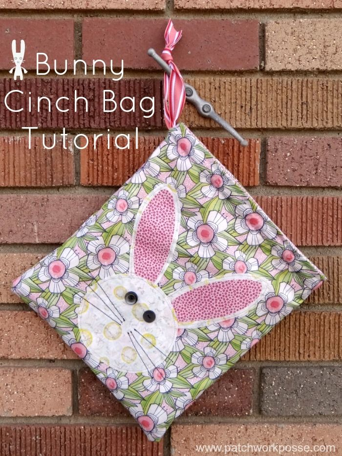 173 best easter images on pinterest easter crafts sewing ideas bunny cinch bag tutorial negle Image collections