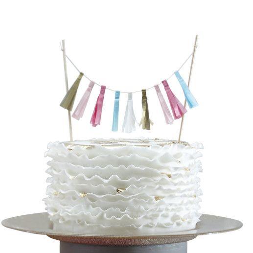 Quasten Kuchengirlande – Confetti Party Serie