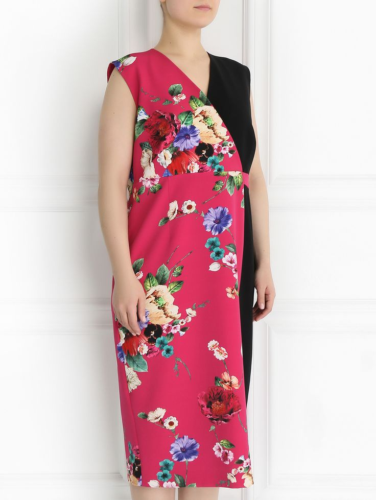 Купить Marina Rinaldi малиновое платье-футляр с цветочным узором (264494), цена на платье в интернет-магазине Bosco.ru – 40 350 руб.