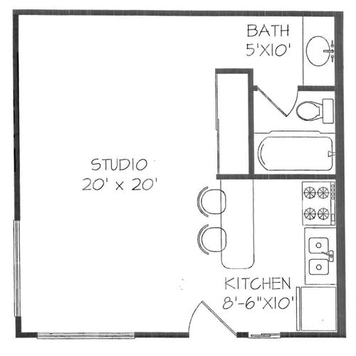Floor Plans For Studio Apartments best 25+ studio apartment kitchen ideas on pinterest | small