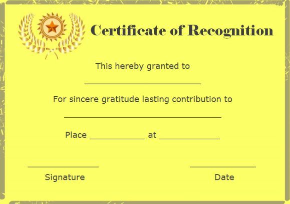 Certificate Of Appreciation Template For Word Enchanting Certificate Of Recognition And Appreciation Template  Certificate .