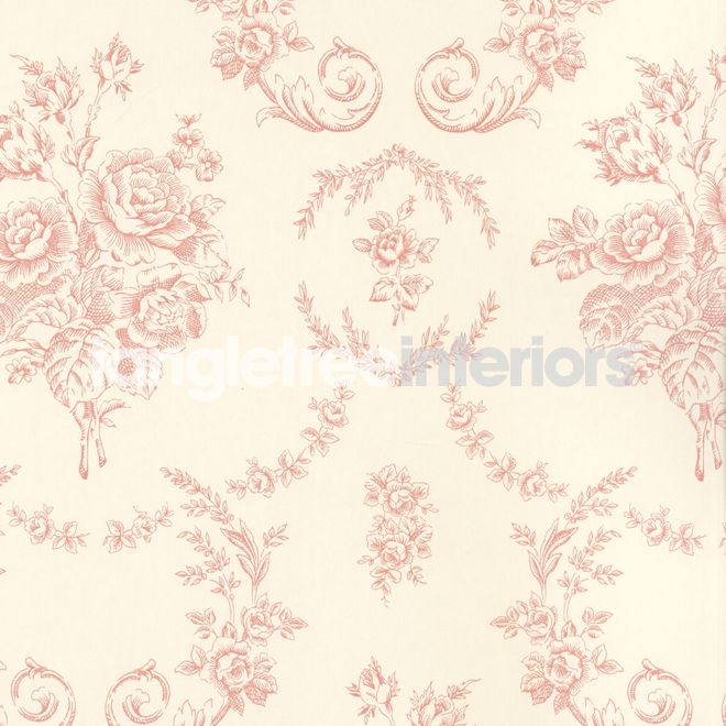 Saratoga Toile wallpaper from Ralph Lauren - PRL033/03 - Pink
