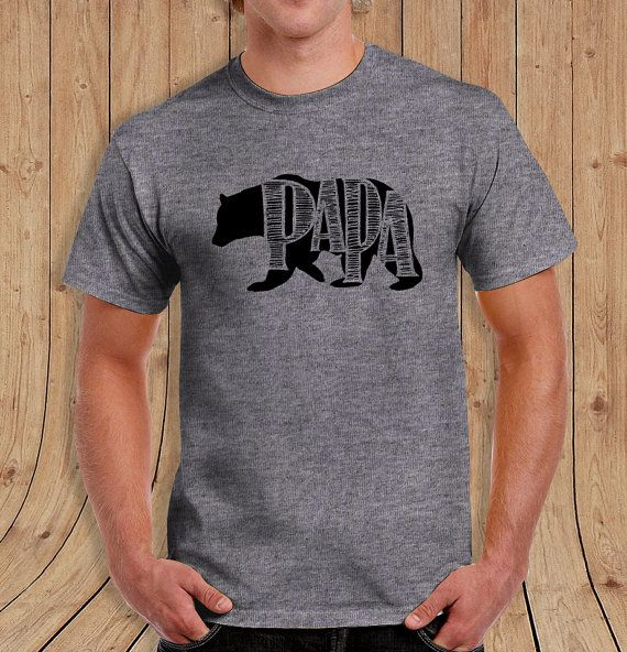 Papa Bear T-shirt - Dad Shirt - Gift for Dads   Made from 100% 6.1 oz ultra cotton Featuring: a seamless double-needle collar, taped neck and shoulders