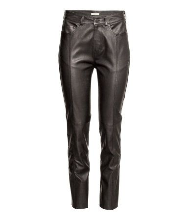 Leren broek | Zwart | Dames | H&M NL