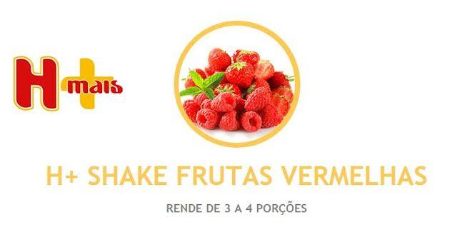 Deliciosas receitas com o Shake H+ da Hinode  INGREDIENTES  • 1/2 XÍCARA DE FRAMBOESA OU MORANGO; • 1/2 BANANA; • 250ML DE LEITE SEMIDESNATADO GELADO; • 1 COLHER (SOPA) DE H+ SHAKE BAUNILHA; • 1 COLHER E MEIA (SOPA) DE H+ SHAKE MORANGO; • GELO À VONTADE.  MODO DE PREPARO  Bata tudo no liquidificador e sirva em seguida.