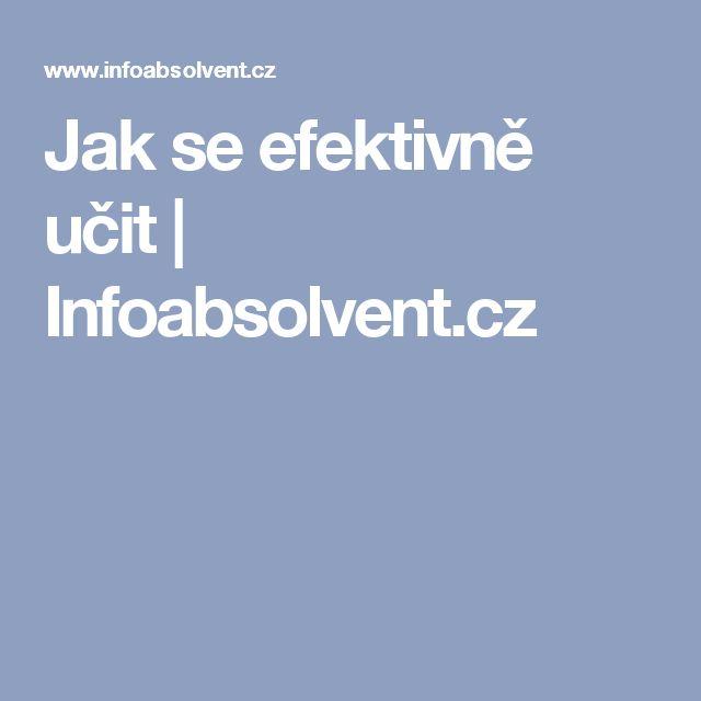Jak se efektivně učit   Infoabsolvent.cz