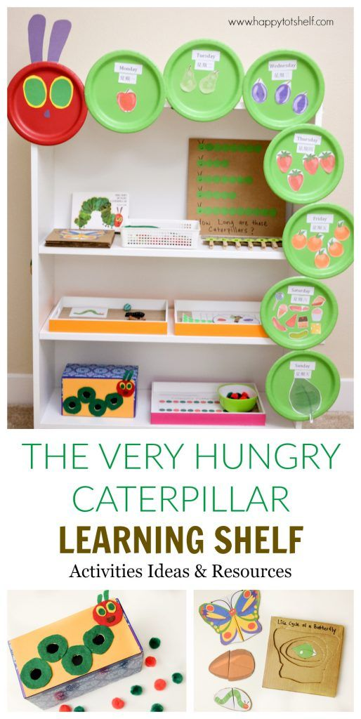 The Very Hungry Caterpillar Learning Shelf & Activities - Happy Tot Shelf