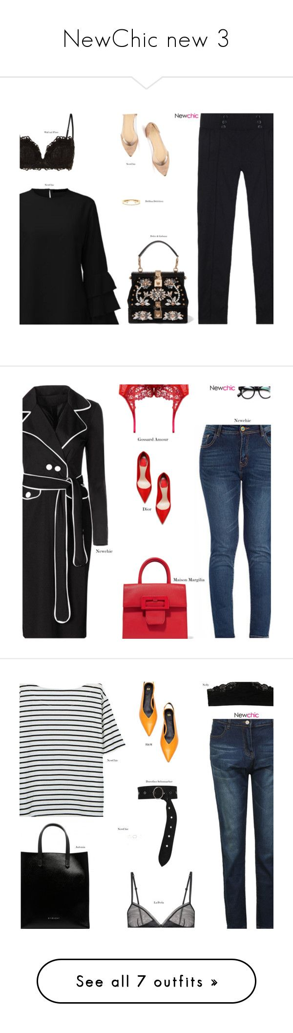 """NewChic new 3"" by s-thinks ❤ liked on Polyvore featuring Wacoal, Dolce&Gabbana, Delfina Delettrez, minimal, minimalism, Minimaliststyle, Maison Margiela, Gossard, Dorothee Schumacher and Roland Mouret"