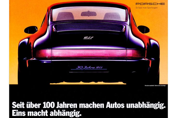 Car advertising – historical Porsche ads: The best advertising motifs of the past decades