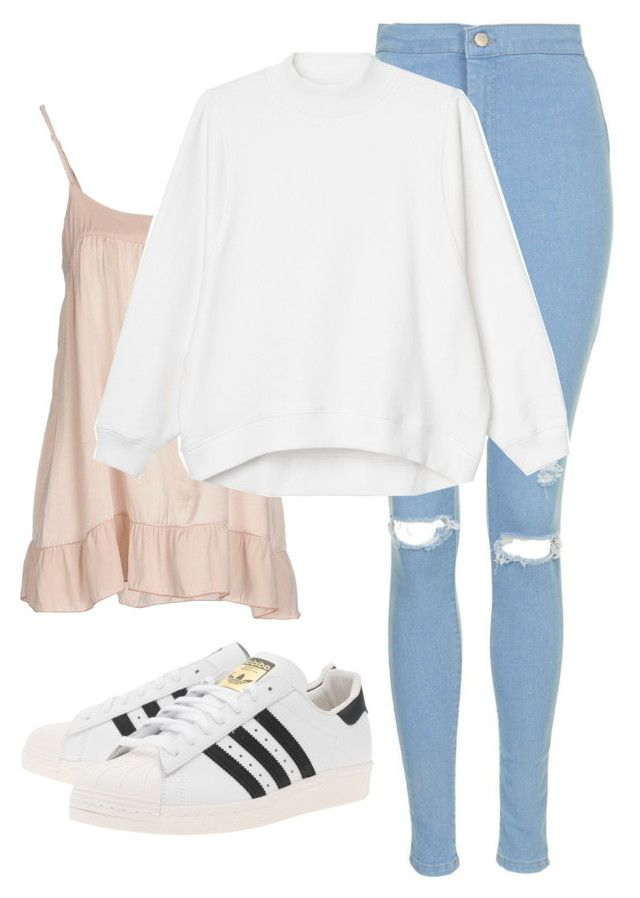 """Lazy day with Jin"" by ebenita95 ❤ liked on Polyvore featuring Topshop, Manila Grace, adidas Originals, Monki, women's clothing, women, female, woman, misses and juniors"