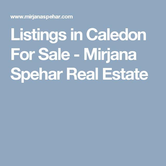 Listings in Caledon For Sale - Mirjana Spehar Real Estate