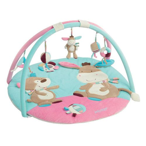 Baby Fehn 3D-Activity-Decke Monkey Donkey in Blau und #Pink #Spielbogen #Krabbeldecke #baby