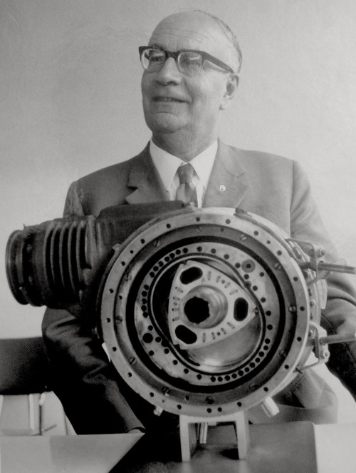 Felix Wankel rotary engine. I love that he took a totally different approach to internal combustion.