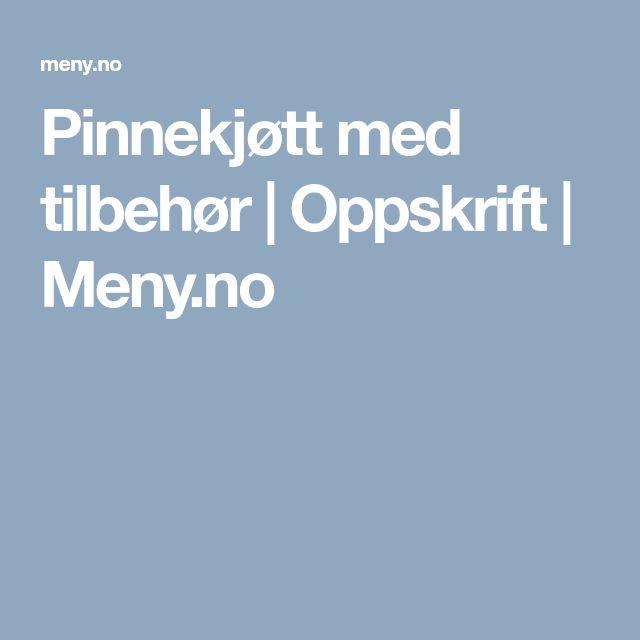 Pinnekjøtt med tilbehør | Oppskrift | Meny.no
