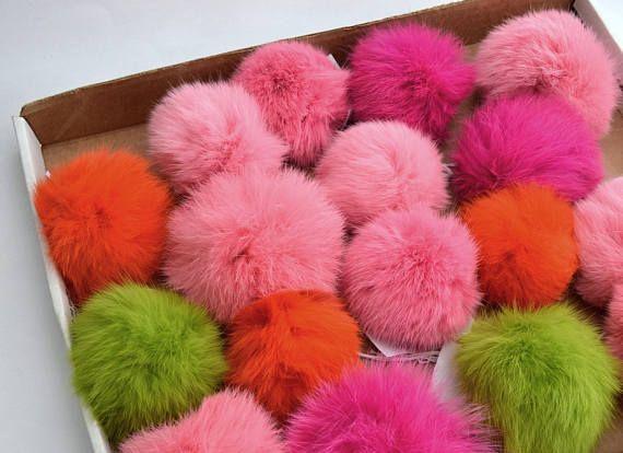 35-45 FUR POM POM Single Rabbit Pom Pom Fur Pompom