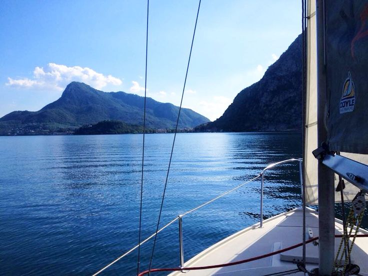 Sailing, Lake Como | #sail  #lakecomo #lagodicomo #lakecomotravelguideapp
