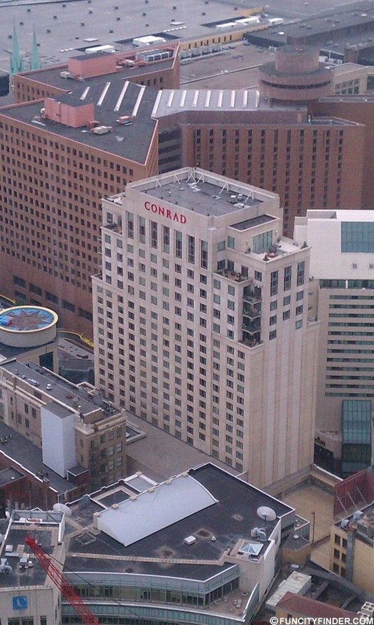 Aerial View Conrad Hotel In Downtown Indianapolis Viewhotels