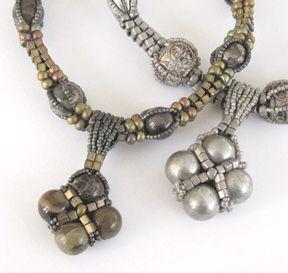 Rustic Rounds Necklace - Designed by Carole Ohl. - Pattern found on Sova Enterprises. $5.95