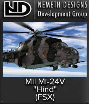 """NEMETH : Mil Mi-24V """"Hind"""" The Mi-24 (NATO designation Hind) is one of the most widely-known assault helicopter gunships in the world, and remains in service with at least 50 air arms. The Mi-24 was developed from the Mi-8 multirole transport helicopter and was first flown in V-24 prototype form in 1969. The definitive initial production variant was the Mi-24D Hind-D. This introduced heavily-armored, stepped cockpits ant an undernose gun turret. This gunship has a crew of three and can carry…"""