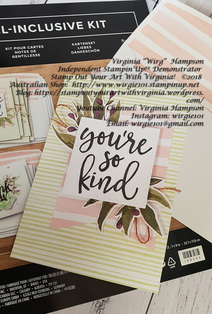 Handcrafted By Stamp All Inclusive Card Making Kit Notes Of Kindness Even Has Stamps Included And Y
