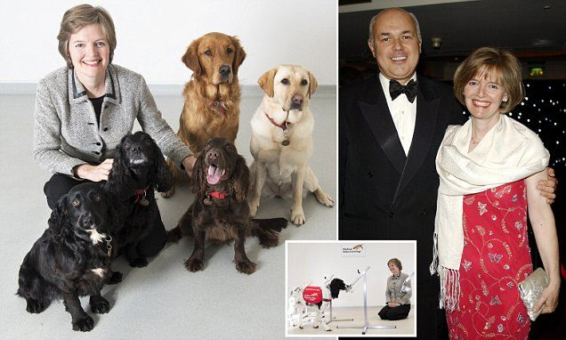 Why Iain Duncan Smith and his wife's dog is no ordinary pet #DailyMail