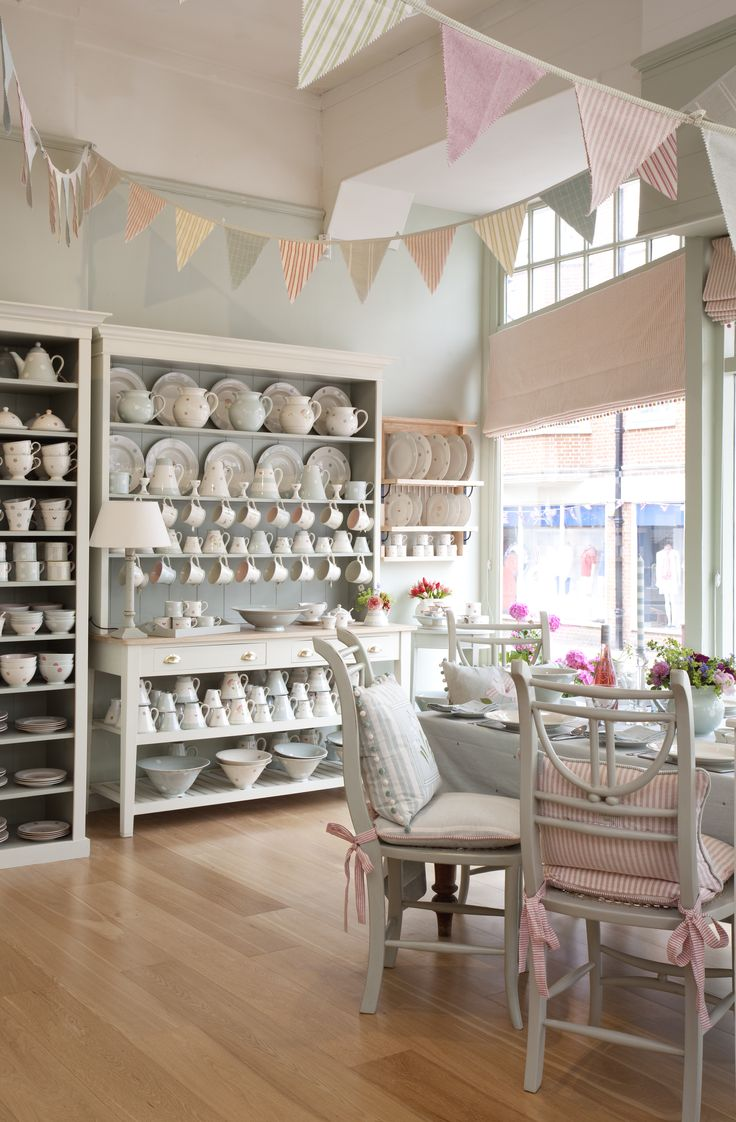Our beautiful Tunbridge Wells shop interior is painted in the relaxing 'Evening Seas' shade from the Susie Watson Designs paint collection. #susiewatsondesigns #susiewatson