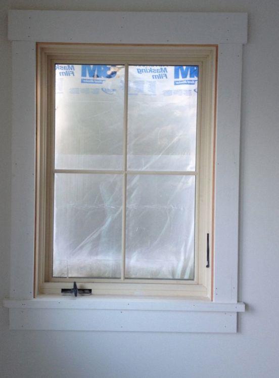 plain window trim  window trim in 2019  Interior windows House trim Interior window trim