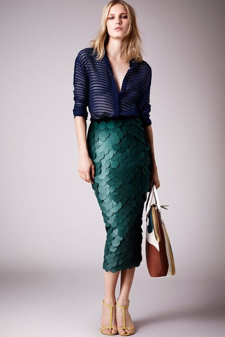 Scallop sequined skirt | Burberry Prorsum Resort 2015
