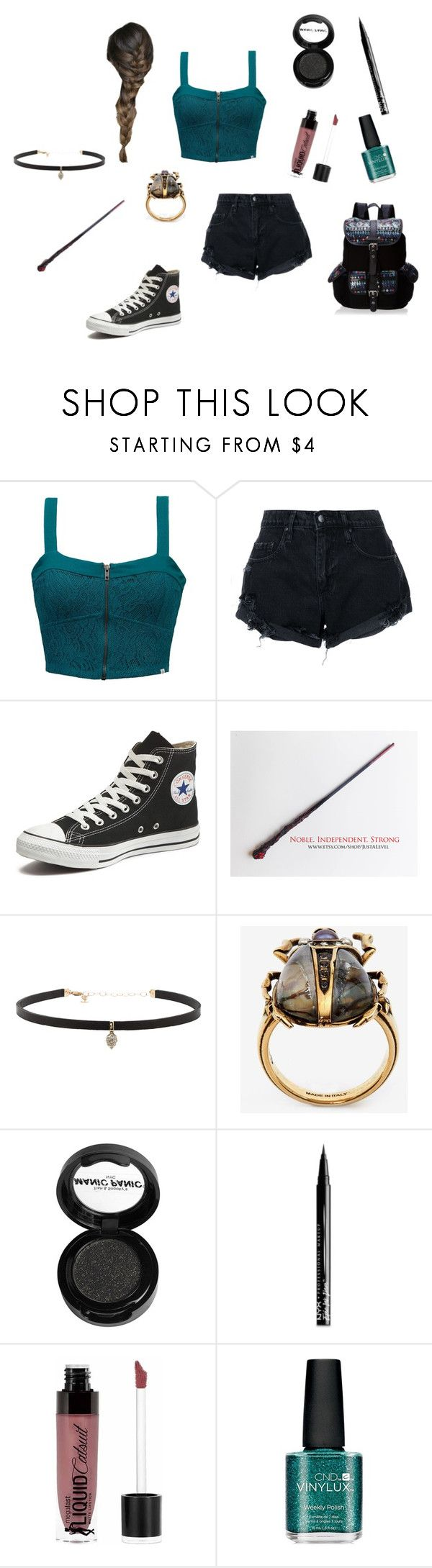 """Bailey -the world cup-"" by megpegachu on Polyvore featuring Element, Nobody Denim, Converse, Carbon & Hyde, Alexander McQueen, Manic Panic NYC, NYX, Wet n Wild, CND and Wild Pair"