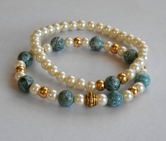 **You will receive both bracelets in this listing.**  Wear these bracelets all at once for a bolder statement or one at a time for a more muted one.