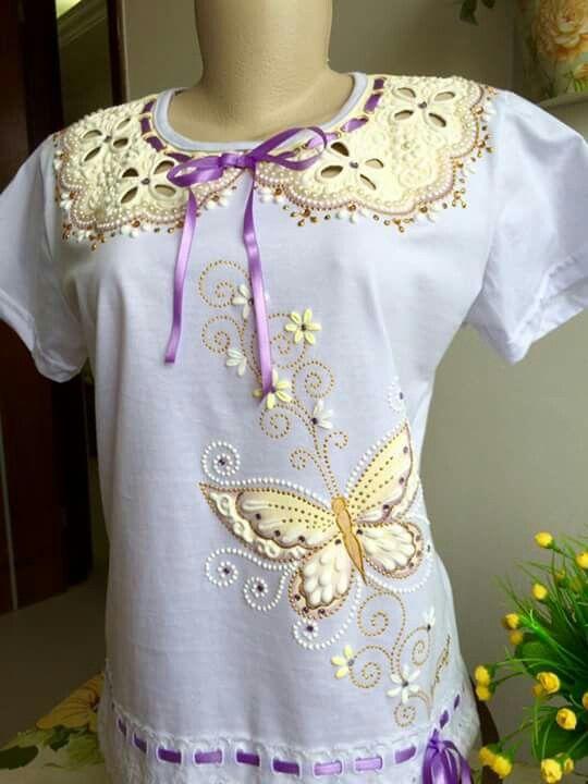 Mas de imagens sobre alzira no pinterest mulher - Pintura para camisetas ...