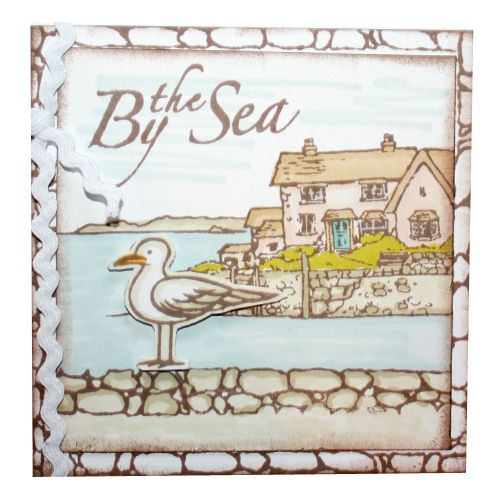 "This Card was made by Heidi Green using the new ""Harbour Village"" stamp set designed by Sharon Bennett for Hobby Art Stamps"