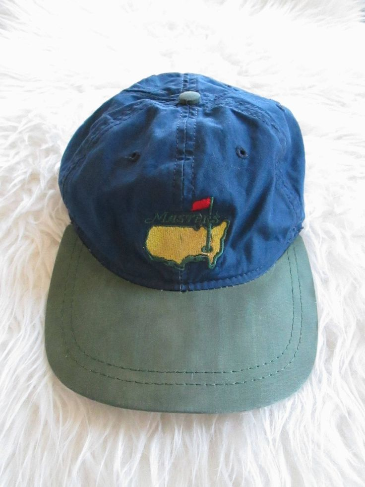 Vintage 1990s MASTERS PGA GOLF Adjustable Hat by FreshtoDeathVintage on Etsy
