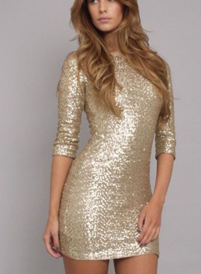 8 best Plus Size Gold Sequin Dress images on Pinterest | Gold ...