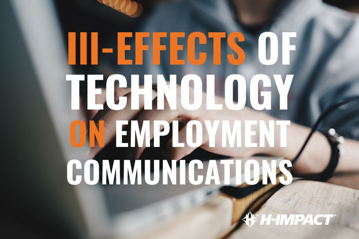 Ill-Effects of Technology On Employment Communications: With every keystroke on an email, on your cover letter or resume, as a whole, you are conveying to your potential Employer who you are and how much you desire to be chosen for the job available, in hopes of being hired as an employee. If you fail to represent yourself professionally, your chances of being hired decrease drastically.
