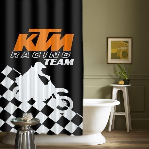 """Hot KTM Racing Team motorcycles High Quality Custom Shower Curtains 60"""" x 72"""" #Unbranded #Modern #showercurtains #bathroom #accessories #polyester #cheap #new #hot #rare #best #bestdesign #luxury #elegant #awesome #bath #newtrending #trending #bestselling #sell #gift #accessories #fashion #style #women #men #kid #girl #birthgift #gift #custom #love #amazing #boy #beautiful #gallery #couple #bestquality"""