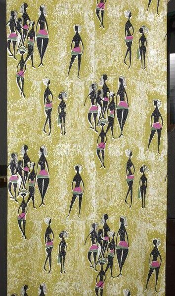 1958 Textile Design by Danuta Paprowicz-Michno, Instytut Wzornictwa Przemysłowego, Łaźnia (Institute of Textile Design in Łaźnia)