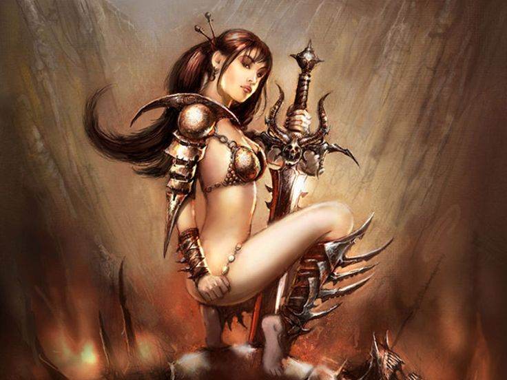 GOOD VIDEO! erotic woman warrior fantasy art
