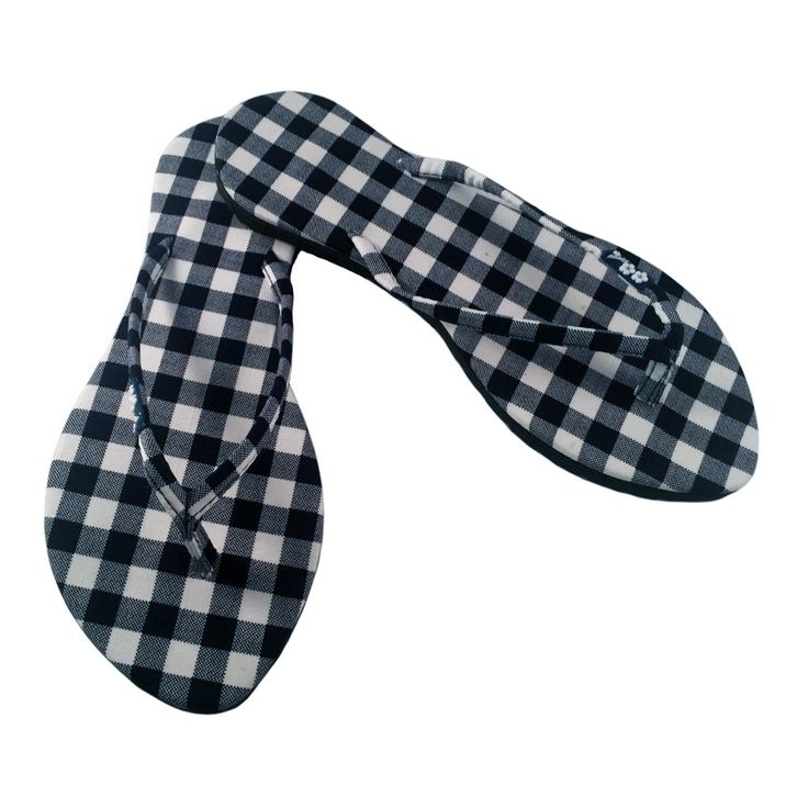 Kawaii Series- Slim Gingham Sandal Navy Blue / White