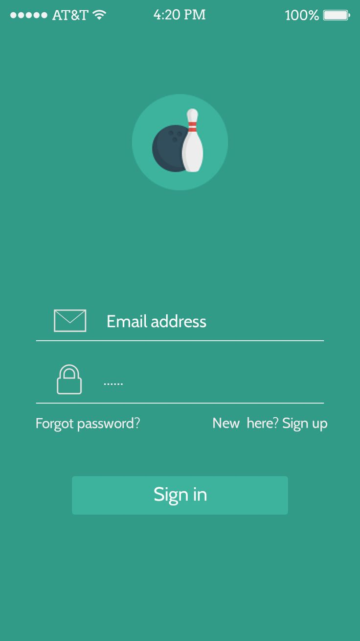 App login UI designs