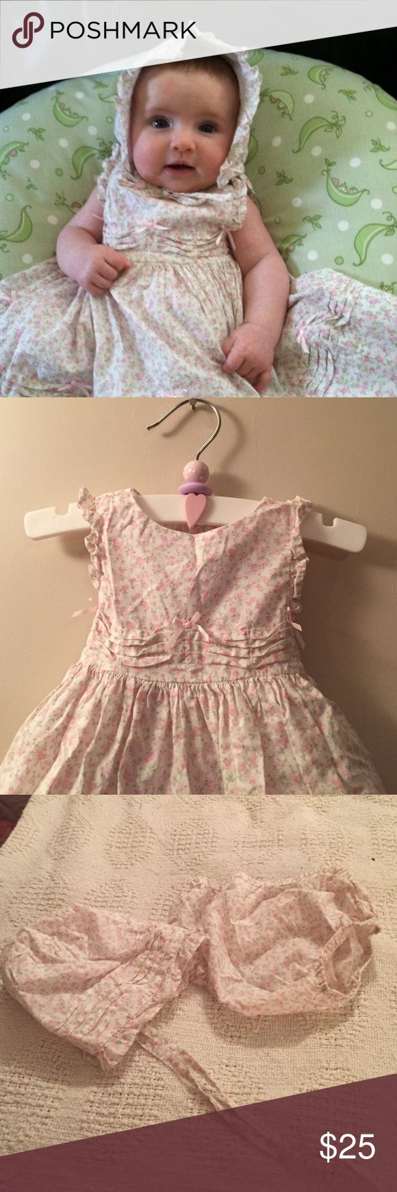 Infants Easter Dress with Bonnet and briefs Only worn once! Bundle with the matching shoes! Ring Around the Rosie Dresses Formal