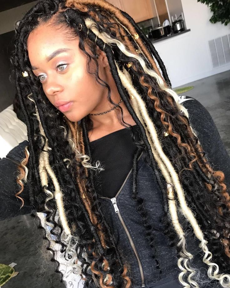 6 packs crochet faux locs curly ends in 2020 (With images) | Locs hairstyles, Braided hairstyles ...