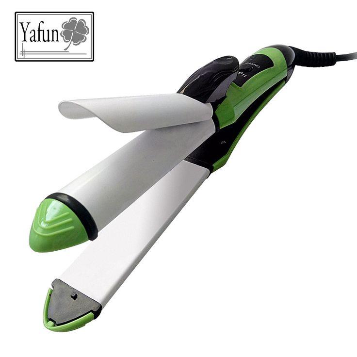 Yafun 2-в-1 230B плойка утюг выпрямитель волос бигуди стайлер для Укладка щипцы для завивки волос Инструменты Набор для волос iron for hair styling tools