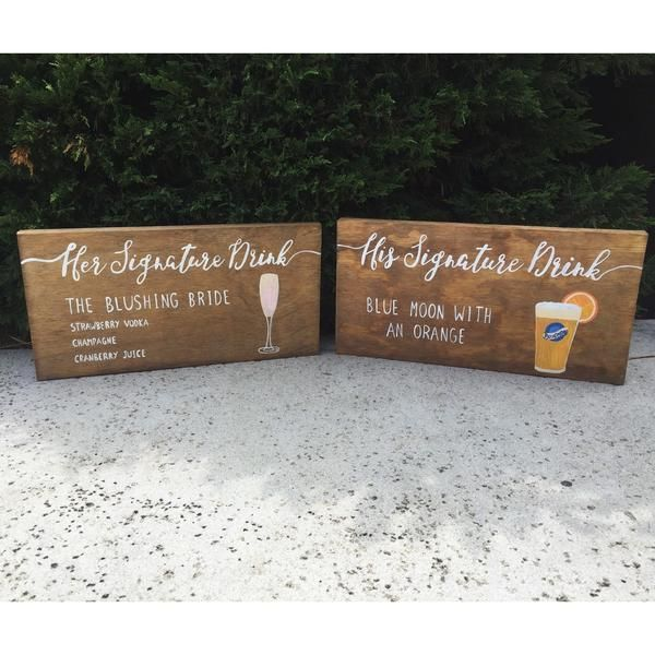 Bar Decor Signs 7 Best Wedding Bar Signs Images On Pinterest  Signature Drink