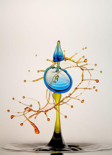 """The New Way"" German photographer Heinz Maier's delicate macro high-speed water drop photographs.  Ultra cool!"